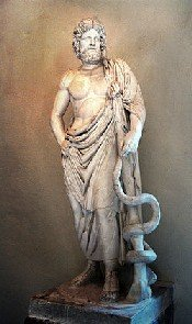 The god Asclepius