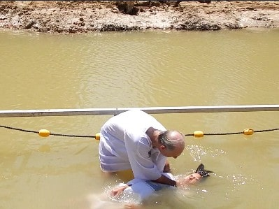 Baptism in river Jordan