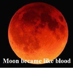 Moon became like blood